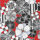 Cherry Twist - Graphic Poppy Cherry Yardage