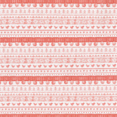 Warm Wishes - Sweater Stripe Red Yardage