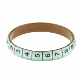 Missouri Star Measuring Tape Bracelet - Thin Aqua