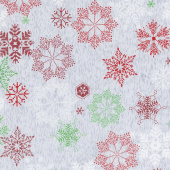 Northern Lights - Snowflakes on Gray Yardage
