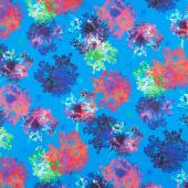 Bright Side - Flowers Lagoon Digitally Printed Yardage