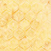 Gatsby Batiks - Feathers Butter Yardage