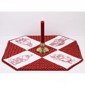 Redwork Santa Blocks Panel and Table Topper Kit