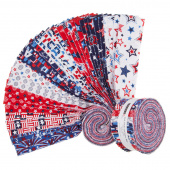 """Red, White and Starry Blue 2.5"""" Strips"""