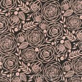 Glam Girl - Floral Black Metallic Yardage