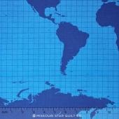 Our World - World Main Blue Yardage