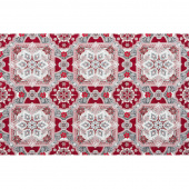 Holiday Flourish 11 - Silver Medallion Metallic Repeating Yardage