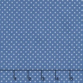 Swiss Dot - Swiss Dot Denim Yardage