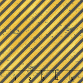 Detour Ahead! - Diagonal Stripe Yellow Yardage