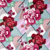 Splendor - Double Fault Floral Cherry Yardage