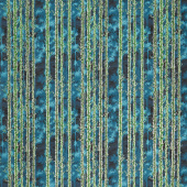 In the Moonlight - Trees Forest Metallic Yardage