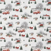 Holiday Homestead - Snow Farm Scenic Gray Yardage