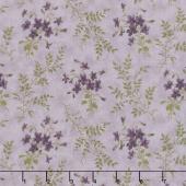 Sweet Violet - Violets & Ferns Lilac Yardage