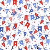 Sweet Land of Liberty - Banner White Multi Yardage