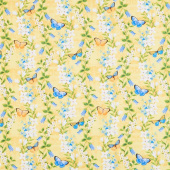 Madison - Floral Trails Yellow Yardage