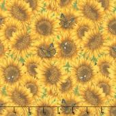 Country Paradise - Sunflowers Yellow Yardage
