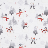 Snowy Wishes - Scenic Light Gray Yardage