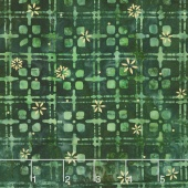 Artisan Batiks - Northwoods 6 Plaid Holly Metallic Yardage