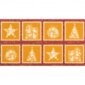 Winter's Grandeur 6 - Holiday Ornaments Holiday Metallic Panel