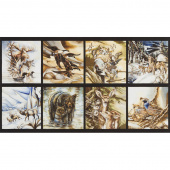 North American Wildlife - Nature Animals Panel