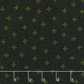 Ebony & Onyx - Geometric Petals Black Yardage
