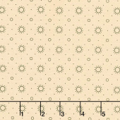 Blush and Blue - Sunburst Cream Yardage