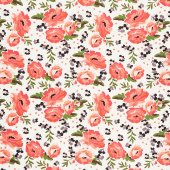 Ava Kate - Floral Cream Yardage