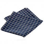 Tea Towel - Reverse Window Pane Navy/Teadye
