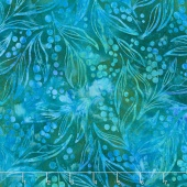Artisan Batiks - Greenhouse 3 Leaf Stalks Sweet Pea Yardage