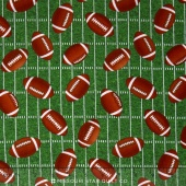 Sports - Tossed Footballs Green Yardage