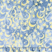 Forget Me Not Batiks - Star Dark Lagoon Yardage