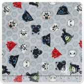 Angry Birds - Star Wars Heads of Empire Grey Yardage