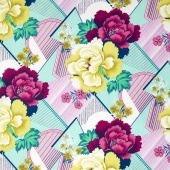 Splendor - Double Fault Floral Moonglow Yardage