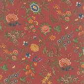Prairie Dreams - Prairie Flowers Red Yardage