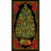 A Joyful Season - Christmas Tree Multi Metallic Panel