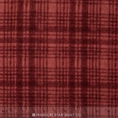Woolies II Flannel - Windowpane Dark Red Yardage