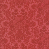 Cinnaberry - Damask Tonal Cranberry Yardage