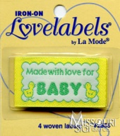Made With Love for Baby Iron-On Lovelabels