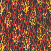 Transportation - In Motion Racing Flames Red Yardage