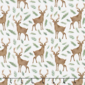 Winter Woods - Oh Deer in White Yardage