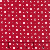 Little Snippets - Stitch Red Yardage