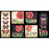 Harlequin Poppies - Poppy Craft Multi Panel