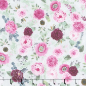 Botanical Oasis - Small Floral Green Yardage