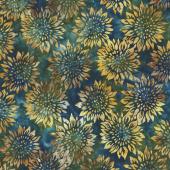 Artisan Batiks - Summer Flowers Sunflowers Meadow Yardage