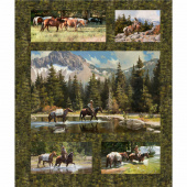 High Country Crossing - High Country Green Digitally Printed Panel