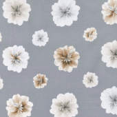 Essence of Pearl - Neutral Floating Blossoms Stone Grey Yardage