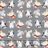 Take Me Home - Dog Heads Grey Yardage