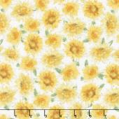 Bee My Sunshine - Sunflowers Cream Yardage