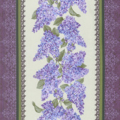 Lilacs in Bloom - Lilacs in Bloom Stripe Sage Yardage