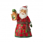 Jim Shore Heartwood Creek Santa with Lantern Mini Figurine